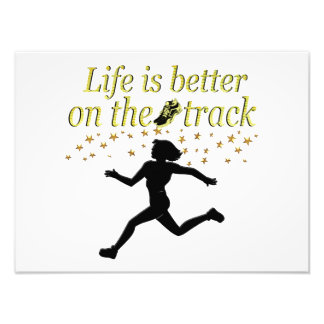 AWESOME LIFE IS BETTER ON THE TRACK DESIGN PHOTOGRAPH