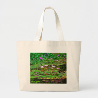 awesome liliies bag, live zen jumbo tote bag