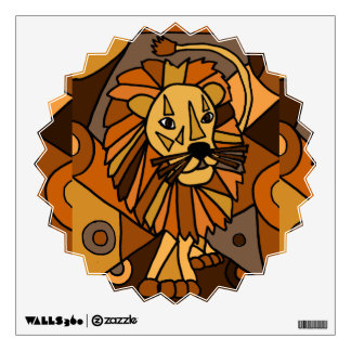 Awesome Lion Abstract Art Wall Decal