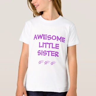 AWESOME LITTLE SISTER with Shooting Stars v1 T-Shirt