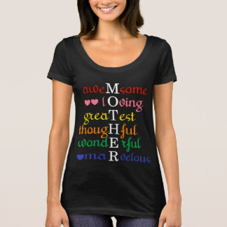 Awesome-Loving-Greatest- Mother in Rainbows Shirt