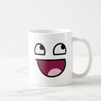 Awesome Lulz Smiley Face Classic White Coffee Mug
