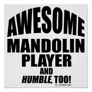Awesome Mandolin Player Poster