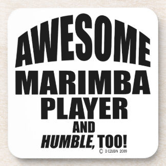 Awesome Marimba Player Coaster