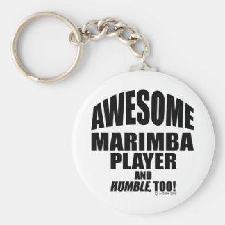 Awesome Marimba Player Keychain