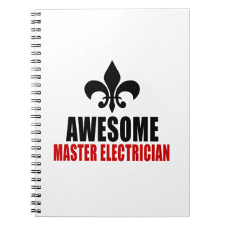 AWESOME MASTER ELECTRICIAN SPIRAL NOTE BOOKS