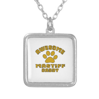 AWESOME MASTIFF DADDY SILVER PLATED NECKLACE