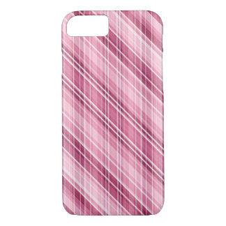 Awesome Matte Pink Stripes-Plaid-Crosshatch iPhone 7 Case
