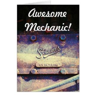 Awesome Mechanic Greeting Card