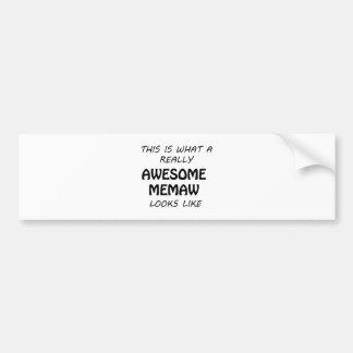 Awesome Memaw Bumper Sticker