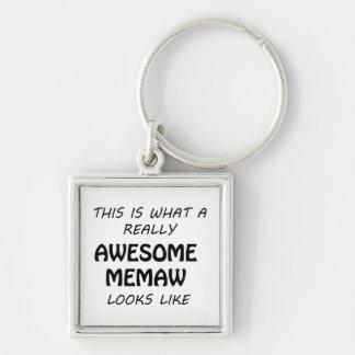 Awesome Memaw Keychain