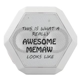 Awesome Memaw White Bluetooth Speaker
