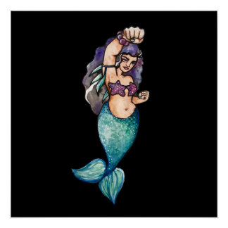 awesome mermaid perfect poster