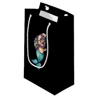awesome mermaid small gift bag
