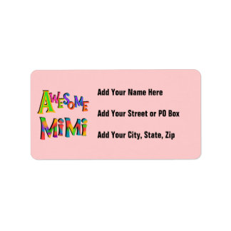 Awesome Mimi T-shirts and Gifts Label