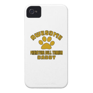 AWESOME MINIATURE BULL TERRIER DADDY iPhone 4 Case-Mate CASES