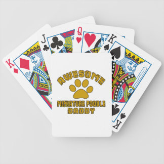 AWESOME MINIATURE POODLE DADDY POKER DECK