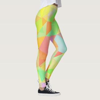 Awesome Modern Geometric Multi Color Pattern Leggings