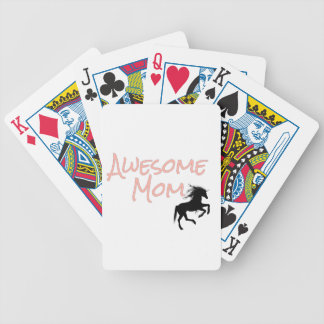 Awesome Mom Bicycle Playing Cards