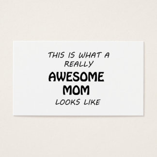 Awesome Mom Business Card