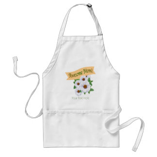 Awesome Mom - Mother's Day Zinnia Standard Apron