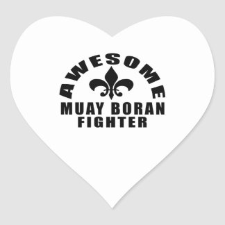 AWESOME MUAY BORAN FIGHTER HEART STICKER