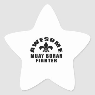 AWESOME MUAY BORAN FIGHTER STAR STICKER