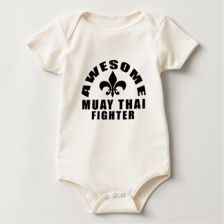 AWESOME MUAY THAI FIGHTER BABY BODYSUIT
