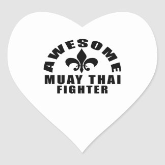 AWESOME MUAY THAI FIGHTER HEART STICKER