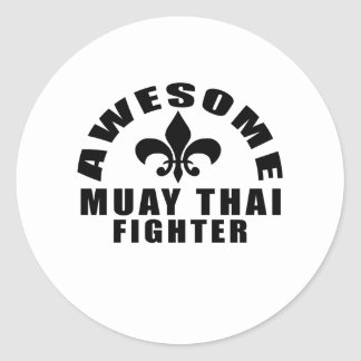 AWESOME MUAY THAI FIGHTER ROUND STICKER