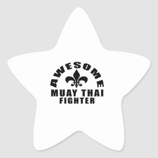 AWESOME MUAY THAI FIGHTER STAR STICKER