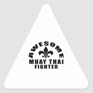 AWESOME MUAY THAI FIGHTER TRIANGLE STICKER