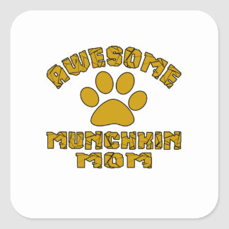 AWESOME MUNCHKIN MOM SQUARE STICKER