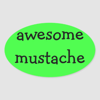 awesome mustache sticker