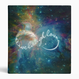 "Awesome mystic ""Live Laugh Love"" infinity symbol 3 Ring Binder"