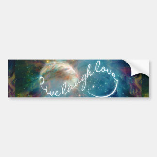 "Awesome mystic ""Live Laugh Love"" infinity symbol Bumper Sticker"