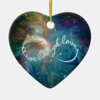"Awesome mystic ""Live Laugh Love"" infinity symbol Ceramic Ornament"