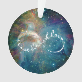 """Awesome mystic """"Live Laugh Love"""" infinity symbol Ornament"""