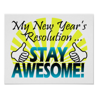 Awesome New Year Resolution Poster