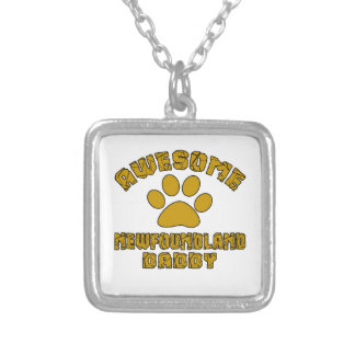 AWESOME NEWFOUNDLAND DADDY SILVER PLATED NECKLACE