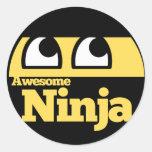 Awesome Ninja Round Sticker