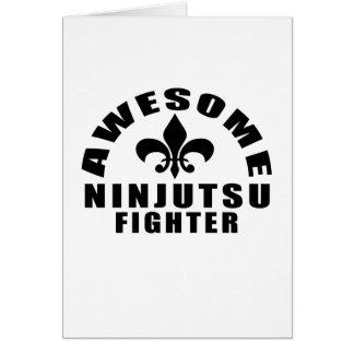 AWESOME NINJUTSU FIGHTER CARD