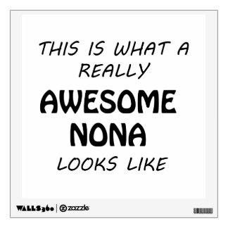 Awesome Nona Wall Sticker