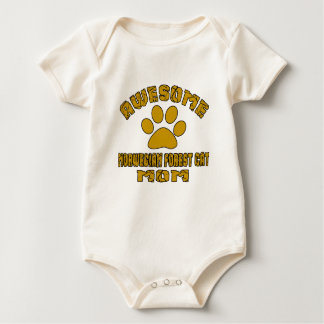 AWESOME NORWEGIAN FOREST CAT MOM BABY BODYSUIT