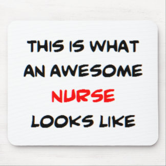awesome nurse mouse pad