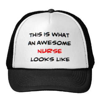 awesome nurse trucker hat