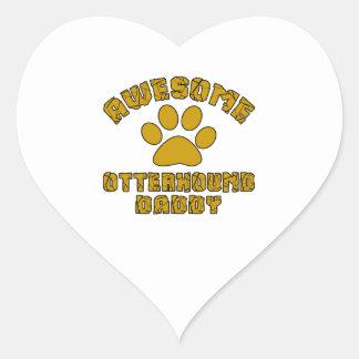 AWESOME OTTERHOUND DADDY HEART STICKER