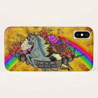 Awesome Overload Unicorn, Rainbow & Bacon Barely iPhone X Case