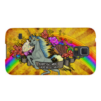 Awesome Overload Unicorn, Rainbow & Bacon Case For Galaxy S5