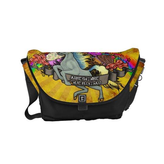 Awesome Overload Unicorn, Rainbow & Bacon Commuter Bag